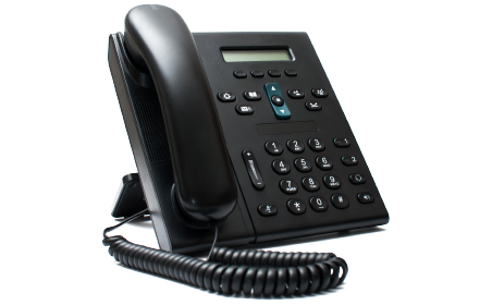 image of a traditional office deskphone