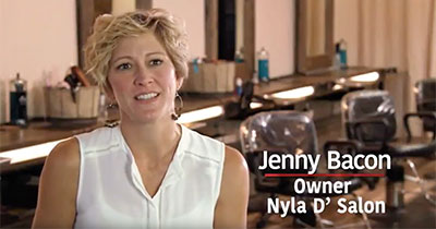 jenny bacon owner of nyla d'salon